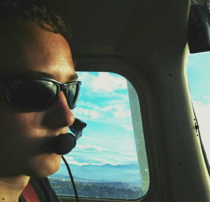 Ben Smith flying a plane.