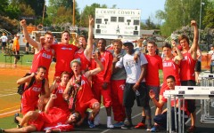 The Grizzly Boy's Track and Field Team took second place at the Crater Classic  (Photo Credit/Morgan Cottle)