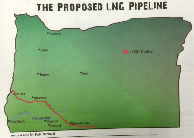 Proposed pipeline.  Map created by Katy Barnard