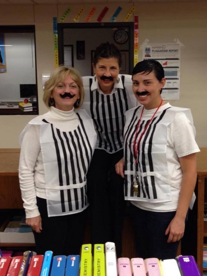 Twin Day during Homecoming Spirit Week. From left to right: Dana Rensi, Kelly Tygerson, Tita Soriano.