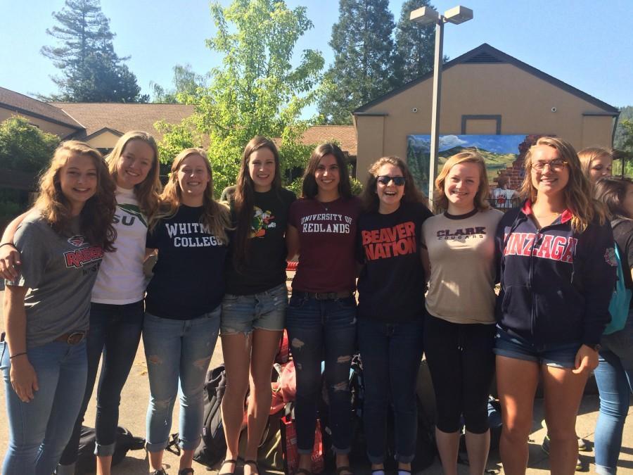 Photo+courtesy+of%3A+Sabrina+Scoggin+L+to+R%3A+Sydney+Norvell+%28Southern+Oregon+University%29%2C+Ashley+Knecht+%28Portland+State+University%29%2C+Paris+Fox+%28Whitman+College%29%2C+Sierra+Webster+%28University+of+Oregon%29%2C+Sabrina+Scoggin+%28University+of+Redlands%29%2C+Sarah+Bestor+%28Oregon+State+University%29%2C+Lili+Wurfl+%28Clark+University%29%2C+Mimi+Schaefer-Sharp+%28Gonzaga+University%29