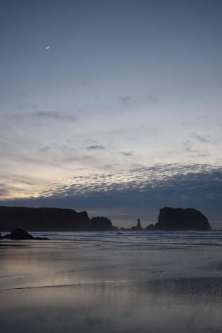 Beach Loop Bluff at Sunset