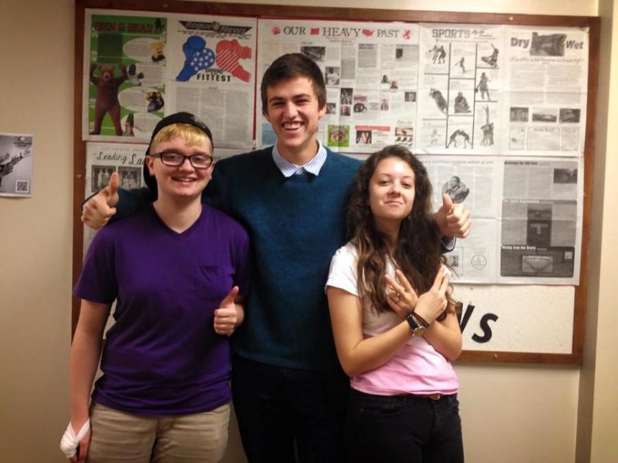 Editors in Chief: McGough, Kiesling and Bestor.  photo by Kleya Dhenin